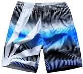 LETSQK Men's Beach Cotton Printed Quick Dry Swimwear Surf Swim Trunks 2XL
