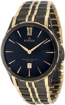 Edox Women's 27035 357JN NID Grand Ocean Black and Gold PVD Stainless Steel Watch