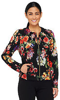 George Simonton Printed Knit Jacket with Zipper Detail