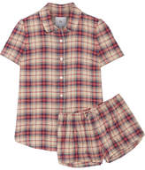 Goop Amy Plaid Cotton-flannel Pajama Set - Red