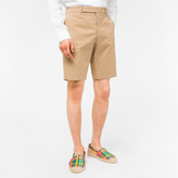 Paul Smith Men's Tan Stretch Cotton-Twill Shorts