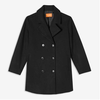 Joe Fresh Women+ Pea Coat, JF Black (Size 1X)