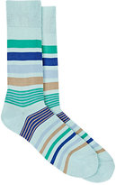 Paul Smith Men's Joni Striped Mid-Calf Socks