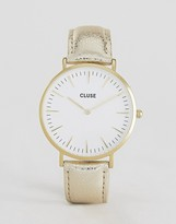 Cluse La Boheme Gold Metallic Leather Watch CL18421