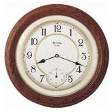 Bulova William - Wooden Wall Clock - Dark Oak Finish - Sub-Seconds