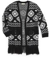 Soprano Aztec Print Cardigan (Big Girls)