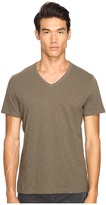 Vince Slub Cotton Short Sleeve Relaxed V-Neck Men's T Shirt