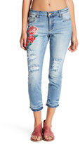 KUT from the Kloth Reese Embroidered Straight Leg Jeans (Petite)