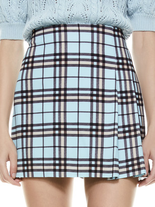 Alice + Olivia Semira Plaid Mini Skirt