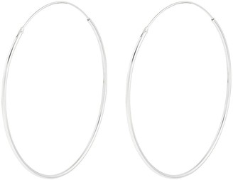 Accessorize Sterling SilverLarge Simple Hoop - Silver