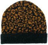 Christian Wijnants leopard pattern beanie