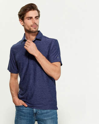 Under Armour Midnight Navy Playoff Tonal Heather Loose Fit Short Sleeve Polo