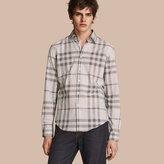 Burberry Check Cotton Chambray Shirt