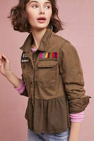 Anthropologie Peplum Military Jacket