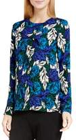 Vince Camuto Womens Floral Print Long Sleeve Blouse