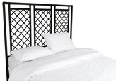 David Francis Furniture X and Diamond Open-Frame Headboard Color: Black, Size: King