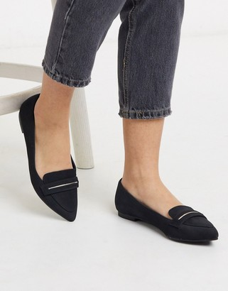 Call it SPRING agroilla flat loafers in black