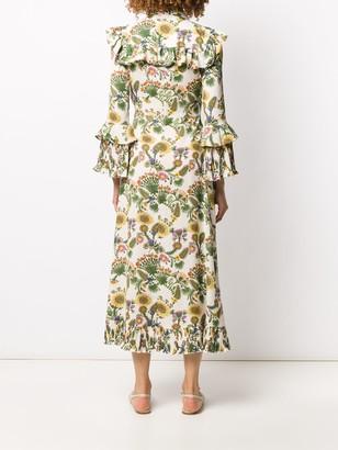 La DoubleJ Ruffled Maxi Dress