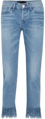 3x1 Frayed Mid-rise Slim-leg Jeans