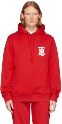 Burberry Red Landon Logo Hoodie