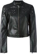 Versace Baroque embroidered cropped jacket