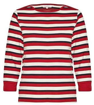 Part Two - Dark Red Lana T Shirt - Large - Red/White/Blue