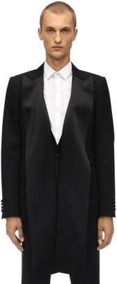 Alexander McQueen Wool Tuxedo Jacket W/ Satin Details