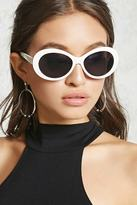Forever 21 FOREVER 21+ Tinted Oval Sunglasses