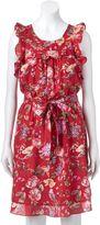 Lauren Conrad Women's Floral Ruffle Fit & Flare Dress