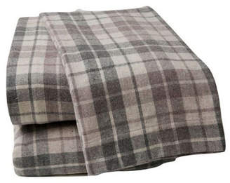 British Peach Plaid Sheet Set Queen Bedding
