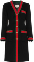 Gucci web stripe wool coat