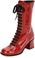 Tomas Maier Glossy Patent Lace-Up Boot