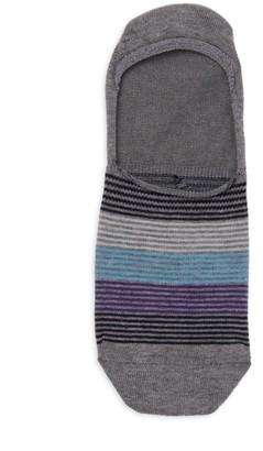 Saks Fifth Avenue COLLECTION Mille Multi-Stripe Ped Sport Socks