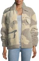 Rag & Bone Jake Shearling Camouflage Jacket
