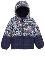 Joules Toddler Girl's Printed Packaway Hooded Jacket