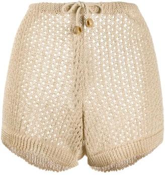 Nanushka Stevie knitted shorts