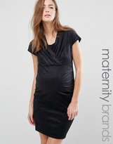 Mama Licious Mama.licious Mamalicious Maternity Dress With Wrap Top