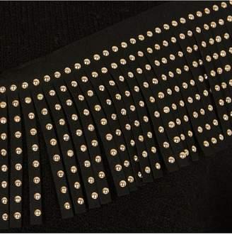 River Island Girls Diamante Tassel Knitted Jumper-Black