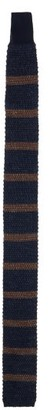 Brunello Cucinelli Striped Knitted-silk Tie - Blue Multi