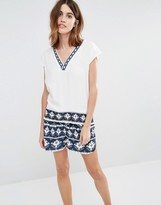 Vila V Neck Geo-Tribal Tunic Top