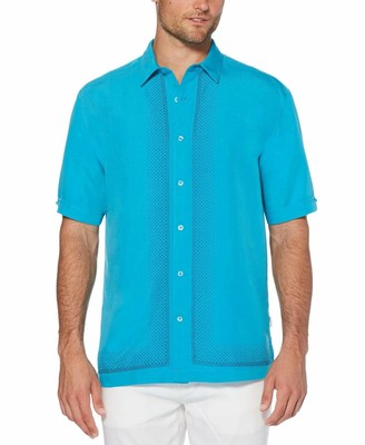Cubavera Fashion L-Shape Embroidered Shirt