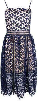 boohoo Corded Lace Detail Midi Skater Dress