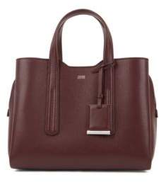 BOSS Tote bag in softly structured grainy Italian leather