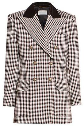 Saint Laurent Houndstooth Tweed Jacket