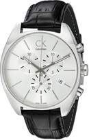 Calvin Klein Men's K2F27120 Exchange Analog Display Swiss Quartz Black Watch