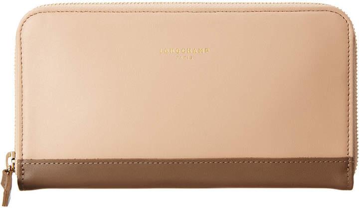 Longchamp 2.0 Leather Zip Around Wallet