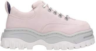 Eytys Angel Sneakers In Rose-pink Suede