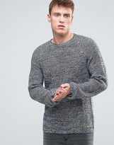 Esprit Knitted Jumper In Mixed Yarn Detail And Raglan Sleeve