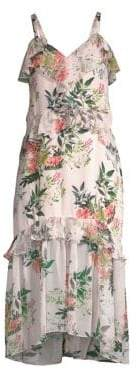 Parker Josie Floral Silk Midi Dress
