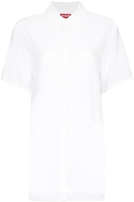 STAUD Saddie long-line shirt